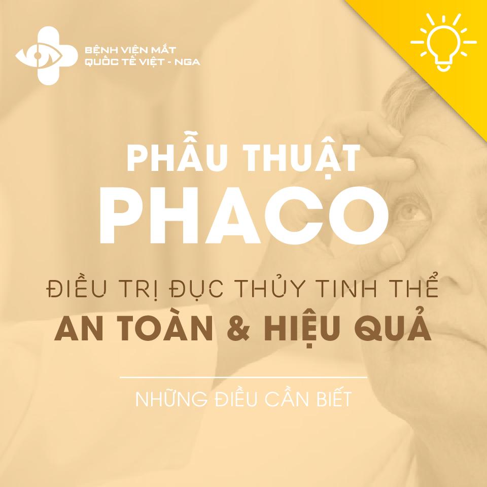 Phẫu thuật Phaco và những điều cần biết