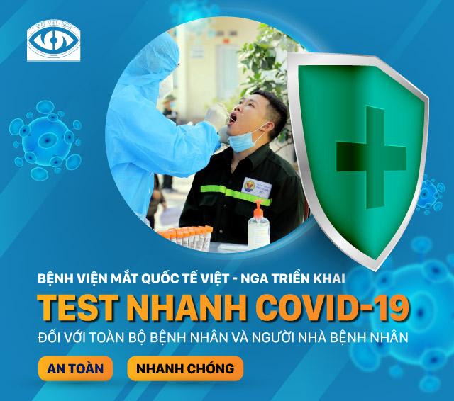 TRIỂN KHAI TEST NHANH COVID-19 ĐỐI VỚI TOÀN BỘ BỆNH NHÂN & NGƯỜI NHÀ BỆNH NHÂN
