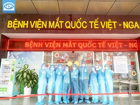 Bệnh viện Mắt Quốc tế Việt – Nga tham gia phòng chống Covid-19
