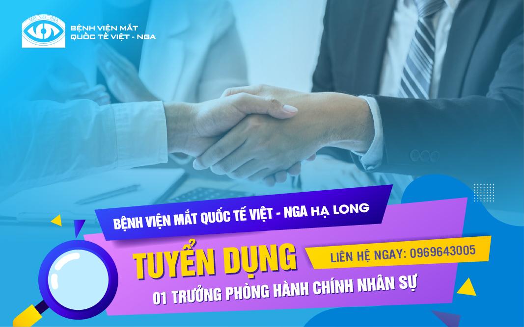 Trưởng phòng HCNS BV Mắt – Hạ Long
