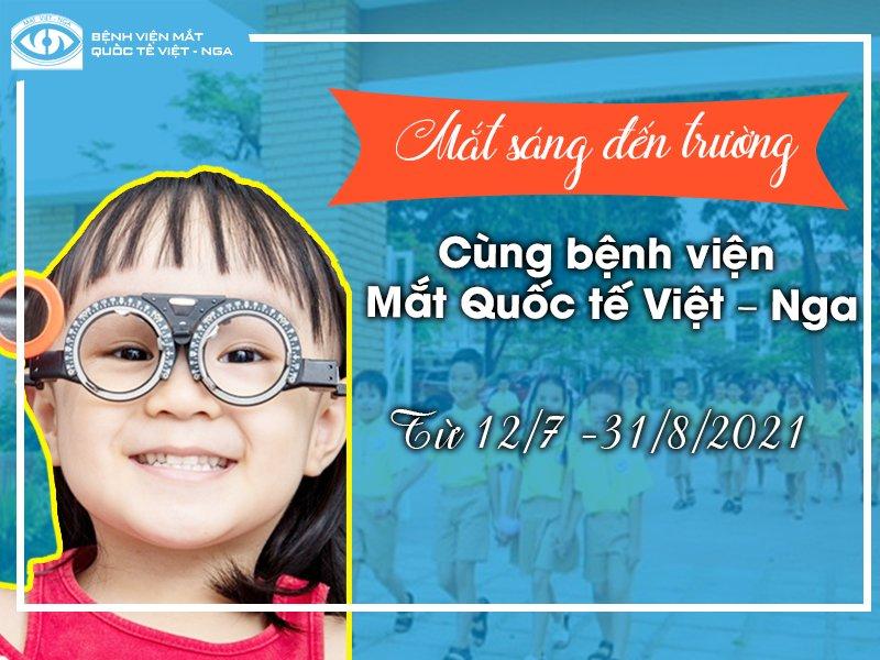 """Chương trình """"Mắt sáng đến trường"""" cùng bệnh viện Mắt Quốc tế Việt – Nga"""